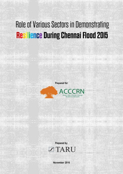 Urban Flood Mitigation: An Approach from Vulnerability to Resilience – A Case of Chennai